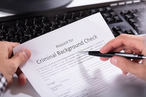 Felonies can show up on a criminal background check